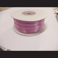Stuha atlasová - růžová, 3 mm
