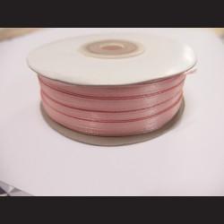 Stuha atlasová - růžová bledá, 3 mm