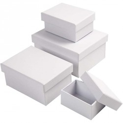 Bílá krabička - obdélník velká, 11x8x4,5cm