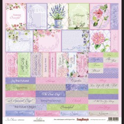Papír na scrapbook - In Bloom Cards 2 , 30,5 x 30,5