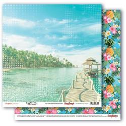 Papír na scrapbook - Tropics - Sapphire Sky, 30,5 x 30,5