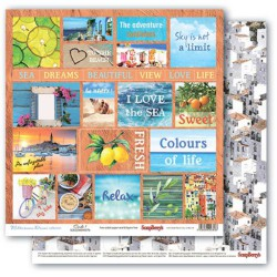 Papír na scrapbook - Mediterranean Dreams, Cards 1, 30,5 x 30,5