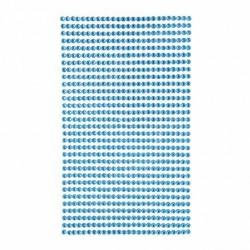 Krystaly samolepící - modrá - 3mm, 806 ks