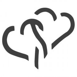 Raznice - spojená srdce, 1,5 cm