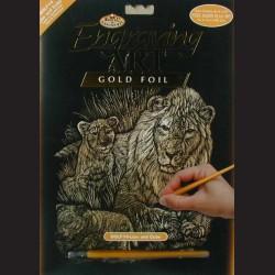 Škrabací obrázek se lvy