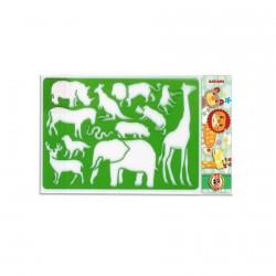 Plastová šablona - safari