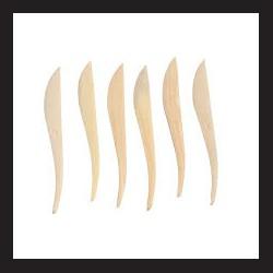 Modelovací špachtle - dřevo, 6 ks