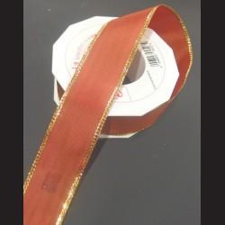 Stuha oranžová 40mm, Vánoční motiv