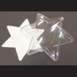 Baňka akrylová hvězda, průměr 10 cm, 1 ks
