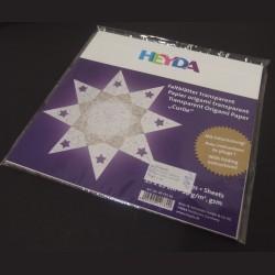 Sada origami papírů zlata