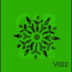 Plastová šablona Vločka V022