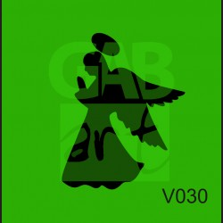 Plastová šablona Anděl-svatozář V030