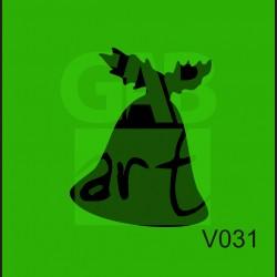 Plastová šablona Zvonek-V031