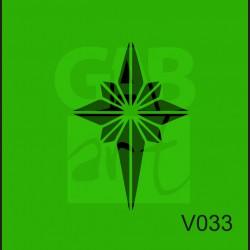 Plastová šablona Hvězda V033