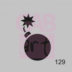 Plastová šablona - bomba, 129