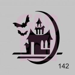 Plastová šablona - hrad, 142