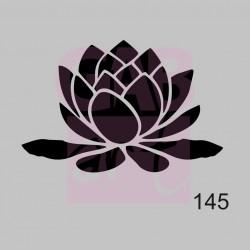 Plastová šablona - lotosový květ, 145