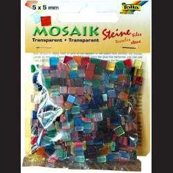 Mozaika transparentní - mix barev, 5x5