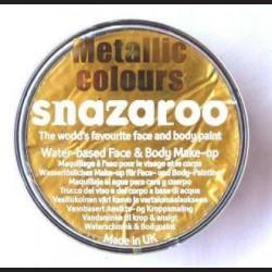 Barva na obličej metalická - zlatá, 18 ml