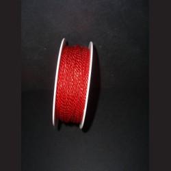 Kroucený provázek - červený, 2 mm