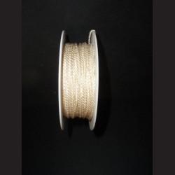 Kroucený provázek - perlový, 2 mm