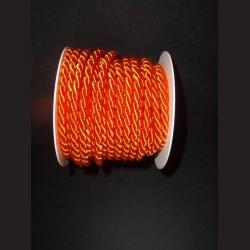 Kroucený provázek - oranžový, 6 mm