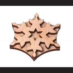 Dřevěné razítko vločka 1