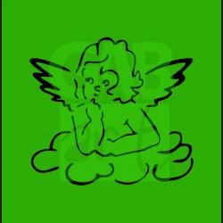 Anděl s trubkou - šablona V04