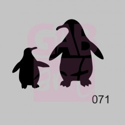 Tučňáci  - šablona 071