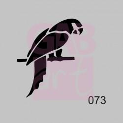 Papoušek  - šablona 073