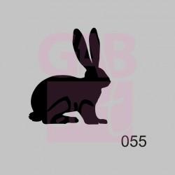 Zajíc - šablona 055