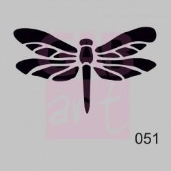Plastová šablona - vážka, 051