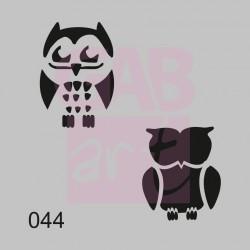 Dvě sovy  - šablona 044