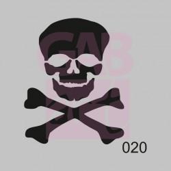 Lebka s hnáty  - šablona 020