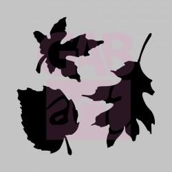 Tři listy  - šablona 024
