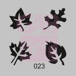 Čtyři listy  - šablona 023