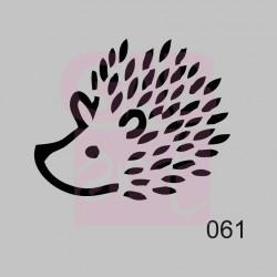 Plastová šablona - ježek, 061