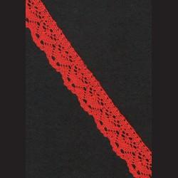 Krajka světle červená č. 2, š. 24 mm
