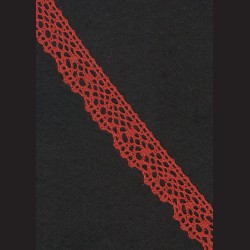 Krajka tmavě cihlová č. 1, š. 21 mm