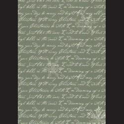 Karton tmavě zelený - písmo č. 3