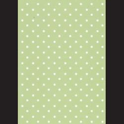 Karton světle zelený - puntíky