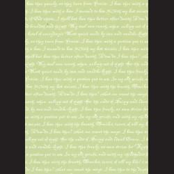Karton světle zelený - písmo č. 1