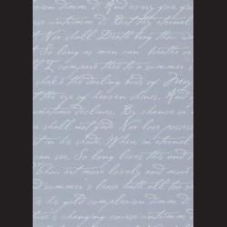 Karton vintage modrý - písmo č. 2