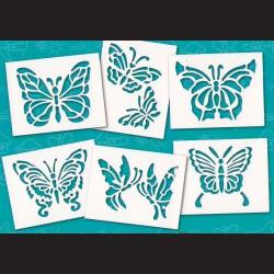 Papírové šablony - Motýli