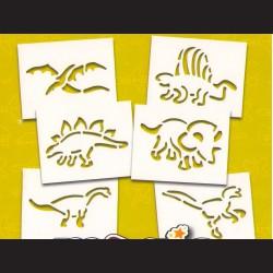Papírové šablony DINOSAUŘI - 6ks