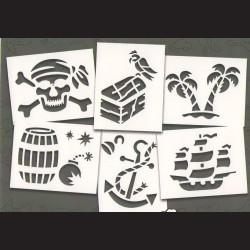 Papírové šablony PIRÁTI - 6ks