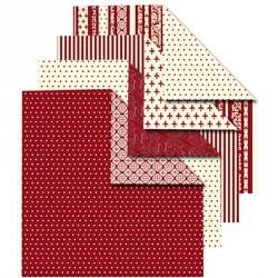 Sada origami papírů, červeno-krémový mix