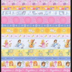 Papír na scrapbook 30,5 x 30,5 cm - Pásy holčička