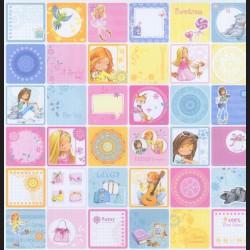 Papír na scrapbook 30,5 x 30,5 cm - Kartičky holčička