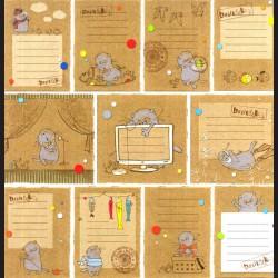 Papír na scrapbook 30,5 x 30,5 cm - Etikety dětské